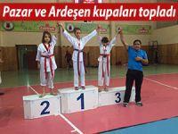 Pazar Kaçkar GSK ve Ardeşen GSK kupaları topladı