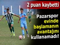 PAZARSPOR BERABERLİĞİ KURTARDI!