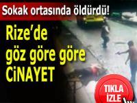 Sokak ortasında göstere göstere silahla öldürdü!