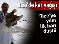 Kar Rize'nin yüksek kesimlerinde etkisini gösterdi