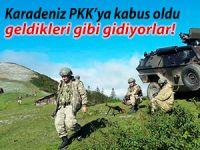 Karadeniz PKK'ya kabus oldu; geldikleri gibi gidiyorlar!