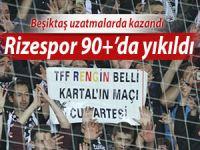 Beşiktaş Rize'de son saniyelerde kanatlandı!