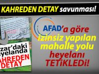 Heyelanda kahreden detaya AFAD'dan savunma!