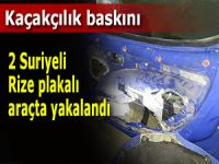Suriyeliler Rize plakalı araçta yakalandı!