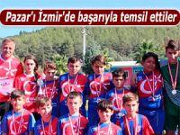 Pazar'ı İzmir'de başarıyla temsil ettiler