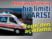 Rize'de ambulans şoförlerine hız limiti uyarısı