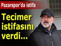 Pazarspor'da hoca istifasını verdi