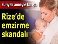 Rize'de hastanede emzirme skandalı