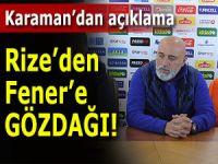 Rizespor'dan Fenerbahçe'ye gözdağı!