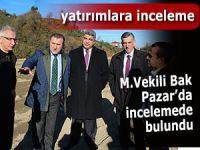 Milletvekili Bak Pazar'da incelemelerde bulundu
