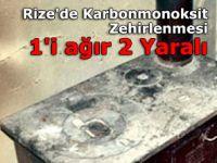 Rize'de Karbonmonoksit Zehirlenmesi: 1'i ağır 2 Yaralı