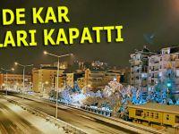 D.Karadeniz'de kar yolları kapattı