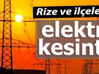Rize ve çevresinde elektrik kesintisi