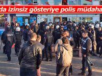 Hopa'da izinsiz gösteriye polis müdahale etti
