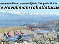 Trabzon Havalimanı yolcu trafiğinde Türkiye'de ilk 7'de
