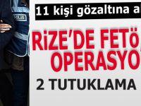 Rize'de FETÖ sanığı 11 kişiden 2'si tutuklandı