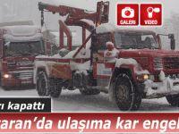 Cankurtaran'da ulaşıma kar engeli