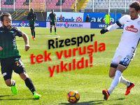 RİZESPOR TEK VURUŞLA YIKILDI!