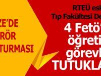 Rize'de FETÖ soruşturmasında 4 öğretim görevlisi tutuklandı