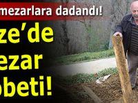 Rizeliler mezarlıkta ayı nöbeti tutuyor!