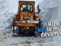 Rize'de karla mücadele devam ediyor!