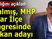Ayrılmış, MHP Pazar İlçe Başkanlığına aday oldu