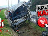 Rize'de korkunç kaza: 1 ölü 1 ağır yaralı