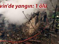 Artvin'de yangın: 1 ölü