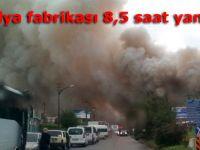 Mobilya fabrikası 8,5 saat yandı!