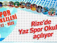 Rize'de yaz spor okulları açılıyor