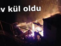 Rize'nin Çayeli ilçesinde yangın