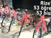 Rize'de 53 öğrenciye 53 bisiklet