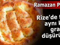 Rize'de Ramazan pidesinin gramajı düştü, fiyatı sabit kaldı