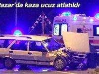 Pazar'da trafik kazası ucuz atlatıldı