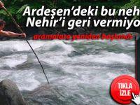 Ardeşen'deki nehir, Nehir'i geri vermiyor!