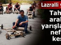 7. Lazralli Tahta Araba Yarışları nefes kesti