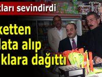 Cumhurbaşkanı Erdoğan markete girdi, alışveriş yaptı