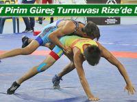 Mehmet Akif Pirim Güreş Turnuvası Rize'de başladı