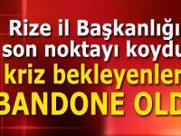AK Parti Rize Merkez İlçe'de krize neşter!
