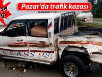 Pazar'da trafik kazası ucuz atlatıldı: 1 yaralı