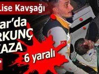 Pazar'da korkunç kaza: 6 yaralı