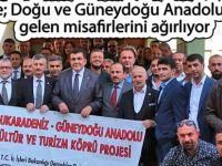 Rize; Doğu ve Güneydoğu Anadolu'dan gelen misafirlerini ağırlıyor