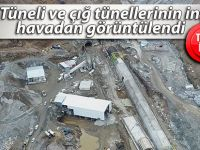 Ovit Tüneli ve çığ tünellerinin inşaatı havadan görüntülendi