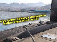 Rize'ye gelen Sakarya denizaltısı halkın ziyaretine açıldı
