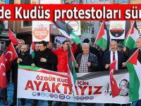 Rize'de Kudüs protestoları sürüyor