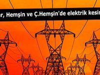 Pazar, Hemşin ve Çamlıhemşin'de elektrik kesintisi