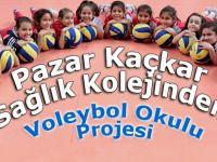 Pazar Kaçkar Sağlık Kolejinden Voleybol Okulu Projesi