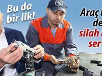 Araç bakım değil silah bakım servisi!