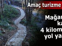 Pileki Mağarası'na giden 4 Km'lik yol turizmin hizmetine açılıyor