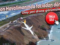 Trabzon Havalimanında faciadan dönüldü